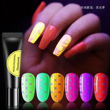 Glow in the Dark Nail art Polish Luminescent Acrylic Manicure Fluorescent Gel