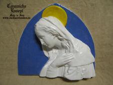 Madonna arco Stile DELLA ROBBIA ceramica decorata a mano + OMAGGIO