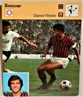 """Gianni Rivera 1978 Pro Soccer Sportscaster 6.25"""" Card 31-17 The Apple of Discord"""