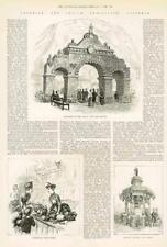 1886 antica stampa ESPOSIZIONE COLONIALE INDIANO Australia Victoria Frutta Vino (253