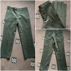 """mens green corduroy trousers w 36 inside leg 28.5"""" 100% cotton new without tags"""