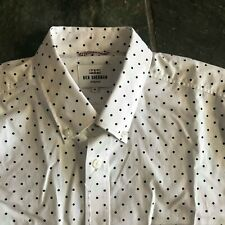 NEW white and black polka dots BEN SHERMAN long sleeve shirt size M