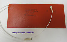 """Silicone Heating Pad  230 Volts  210 Watts  7""""  x  3""""  Part # 910028004-01  NEW"""