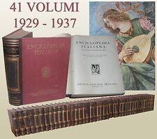Treccani 1929 1937 Enciclopedia italiana di scienze lettere ed arti 41 Volumi