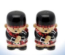 Scottish Bagpiper Bear Novelty Salt Pepper Pots Cruet Set 16815