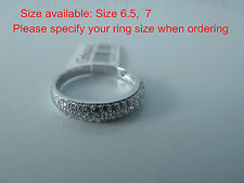 925 Sterling silver size 6.5,  7,engagement ring, wedding ring,band, Set, NWT,#7
