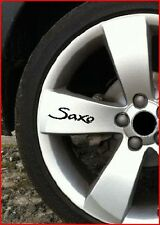 SET OF 8 SAXO ALLOY WHEEL STICKERS VTR VTS DRIFT,MOD,DECALS-SPORT