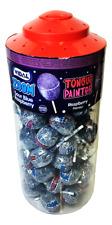 Vidal ZOOM Lollipops BLUE RASPBERRY tongue painter  CANDY Kids Party  50  JAR
