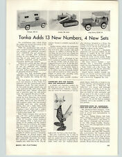 1962 PAPER AD Tonka Toy Article Camper Loader Jeep Surrey Tinker Zoo Toys