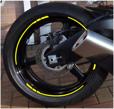 14 RIM RACING CHECKS fit gsxf bandit zx-6r sx1000 sv650 triumph ZX-10R ZX YELLOW