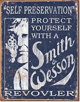 Smith & Wesson Self Preservation  Metal Wall Sign  400mm x 310mm   (de)