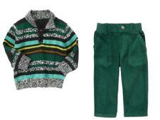Gymboree Loch Ness Heroes Striped Sweater Green Corduroy Pants Set Boys 3T NWT