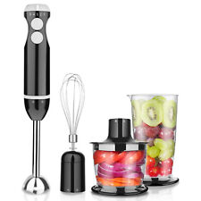 Immersion Hand Blender Mixer 3 Speed 400 Watt Food Processor Smart Stick Chopper