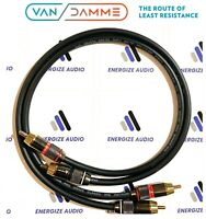 Pair Van Damme Custom RCA Phono Cables - Pro Audiophile Silver Plated Pure OFC