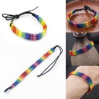 Fashion Gay Lesbian LGBT Pride Bracelet Rainbow Bangle Jewelry Gift Unisex