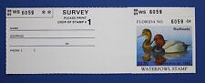 U.S. (FL10h) 1988 Florida State Duck Stamp with survey tab (MNH)