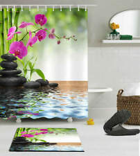 A Spray Of Flower Waterproof Bath Polyester Shower Curtain Liner Water Resistant