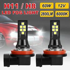 2PCS Canbus H8 H11 LED Car Fog Light Lamp 6000K Error Free Auto Bulbs 12V