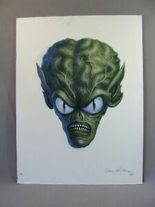 Universal Portrait of an Alien Head Original Sci Fi Painting by Greg Winters