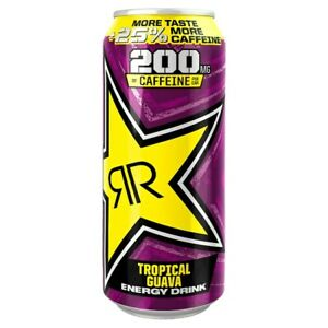 24 x Rockstar Punched Tropical Guava Energy Drink 500ml Fitness Red Bull Monster