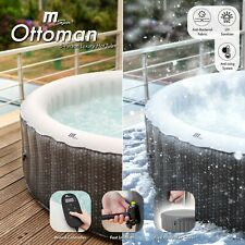 More details for mspa ottoman 6 person (4+2) round inflatable hot tub spa jacuzzi premium grey