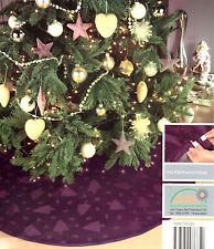 Weihnachtsbaumdecke 120 cm Lila Christbaum Unterlage Schmuck Tannenbaumdecke