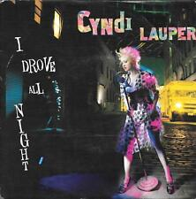 "45 TOURS / 7"" SINGLE--CYNDI LAUPER--I DROVE ALL NIGHT / MAYBE HE'LL KNOW--1986"
