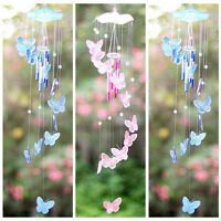 Butterfly Mobile Wind Chime Bell Garden Ornament Hanging Living Door Decor ss