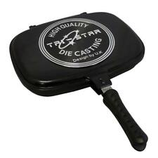 Supreme Double Grill Pan 34cm Dual Sided Frying Pan Flipping Griddle Die-Cast
