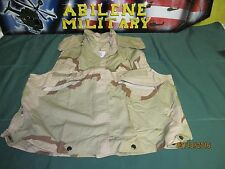 US ARMY PASGT FLACK VEST DCU 3 COLOR DESERT CAMO SMALL MEDIUM FISHING COVER NEW