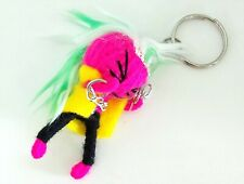 Hipster Punk Rock DJ Red Hair Boy Voodoo Doll Wrap Yarn Key Chains 3.5 x 7 cm.
