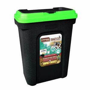 30L PET FOOD CONTAINER DOG CAT ANIMAL 15KG DRY FEED SEED STORAGE BOX BIN & SCOOP