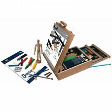 Sketching and Drawing Art Set With Easel - 124 piece drawing art kit