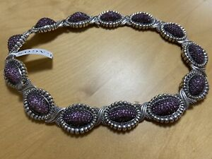 """LAGOS Sterling Silver 925 18"""" Muse Pink Sapphire Fluted necklace BNWT Caviar"""
