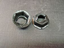"100pcs 1/4"" emblem name plate script letter black thread cutting nuts Fits Dodge"