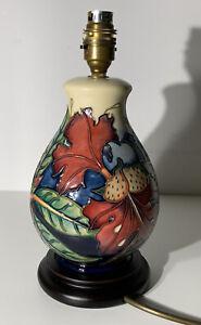 MOORCROFT POTTERY 'SIMEON' LAMP BASE - PHILIP GIBSON - FLORAL