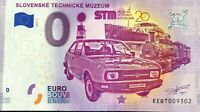 BILLET 0 EURO SLOVENSKE TECNICKE MUZEUM  2019-1 NUMERO DIVERS