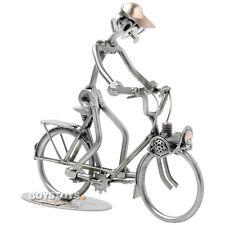 dekofiguren aus metall mit transportmittel fahrrad g nstig kaufen ebay. Black Bedroom Furniture Sets. Home Design Ideas