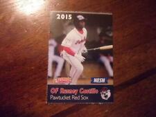 2015 PAWTUCKET RED SOX Dunkin Donuts Single Cards YOU PICK FROM LIST $1-$3 OBO