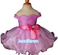 15 color-Infant//toddler//kids//baby//Girl/'s Pageant//prom//formal Dresssize1-7G029-2
