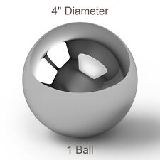 One Large 4 Inch Chrome Solid Steel Bearing Ball G100 945 Pounds