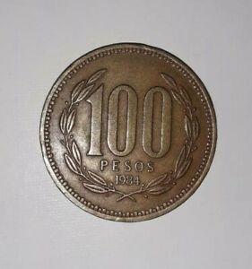 1 piece ancienne monnaie chili 100 pesos