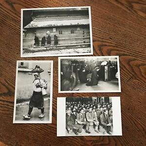 4 post cards Romania Museum of the Romanian Peasant Black White Unused Euro