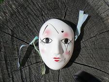 NUOVO Maschera Pierrot in porcellana da appendere 8
