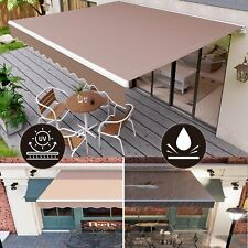 Manual Patio Awning Retractable Canopy Cover Deck Door Outdoor Sunshade Backyard