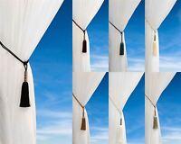 Bullet Tassel Tie Back Luxury Cord Metallic Curtain Hold Backs