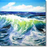 Meer Welle Wandbild Unikat Handmalerei Öl-Gemälde vom Atelier Art. Nr 979