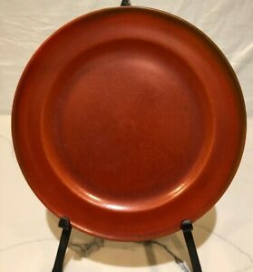 Vintage Catalina Island Pottery Toyon red  RIM DINNER Plate 10""