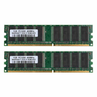 USA 2GB ( 2 X 1GB ) PC3200 2.5V DDR1-400Mhz Desktop SDRAM 184 PIN Dimm Ram ARMS