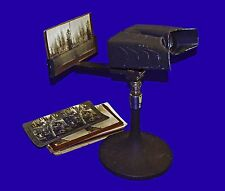 1930s Keystone 3D Stereo Pedestal Table Top Art Deco Stereoviewer Stereoscope
